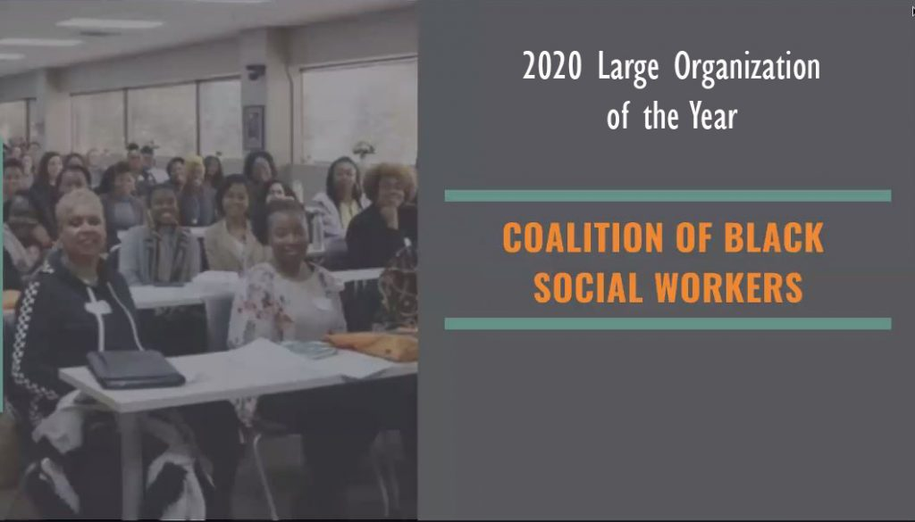 Coalition of Black Social Workers wins 2020 Large Organization of the Year Award