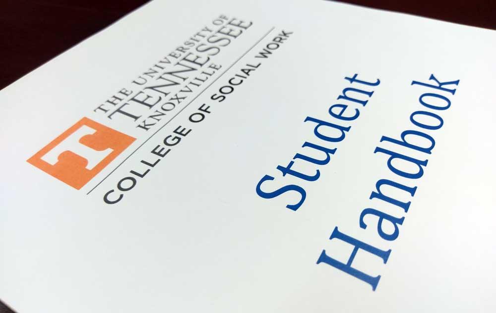 Photo of student handbook