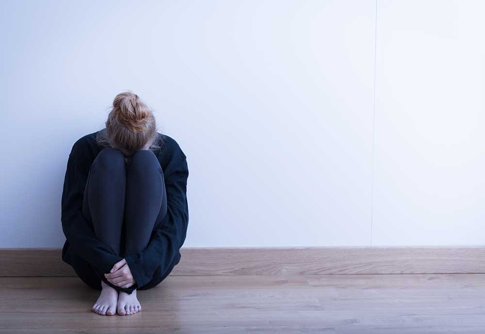 image of depressed woman